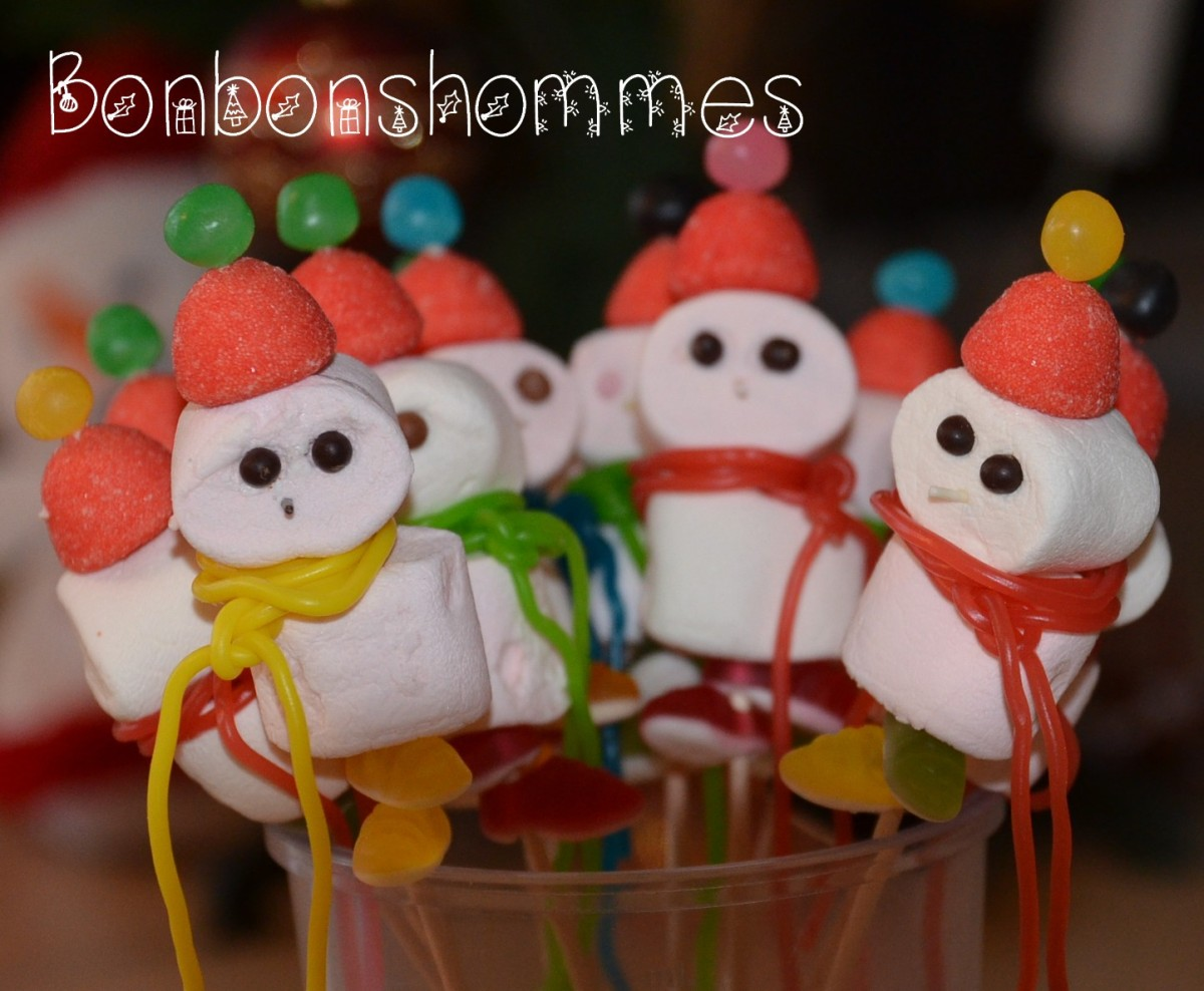 Brochettes de bonbons - Xmas version